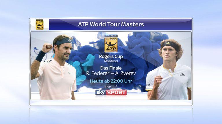 Sky zeigt die Partie zwischen Alexander Zverev und Roger Federer ab 22 Uhr live.