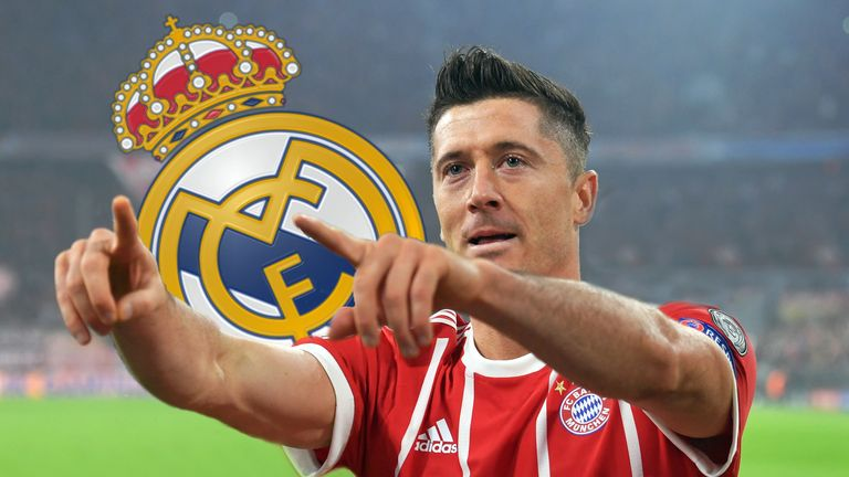 Robert Lewandowski flirtet angeblich mit Real Madrid.