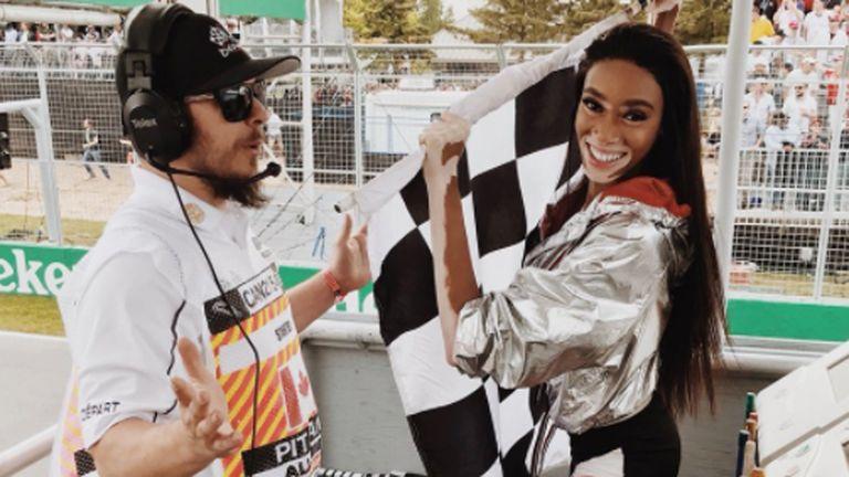 Winnie Harlow (r.) ist eine Freundin von Vettels WM-Rivalen Lewis Hamilton (l.). (Bildquelle: twitter.com/winnieharlow)