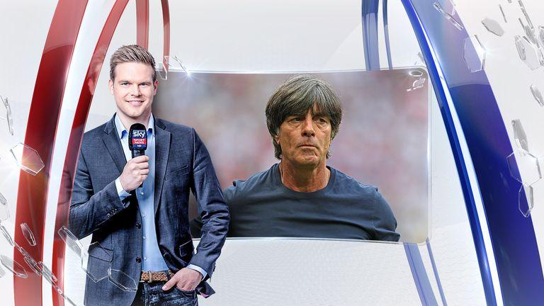 Sky Reporter Marc Behrenbeck berichtet über das WM-Aus der deutschen Mannschaft (Quelle: Sky/Getty).