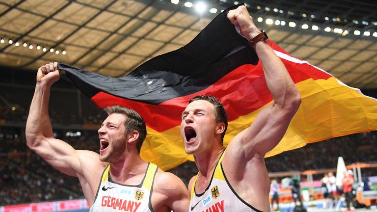 Großer Jubel: Thomas Röhler (.r) schnappt sich den EM-Titel im Speerwurf.