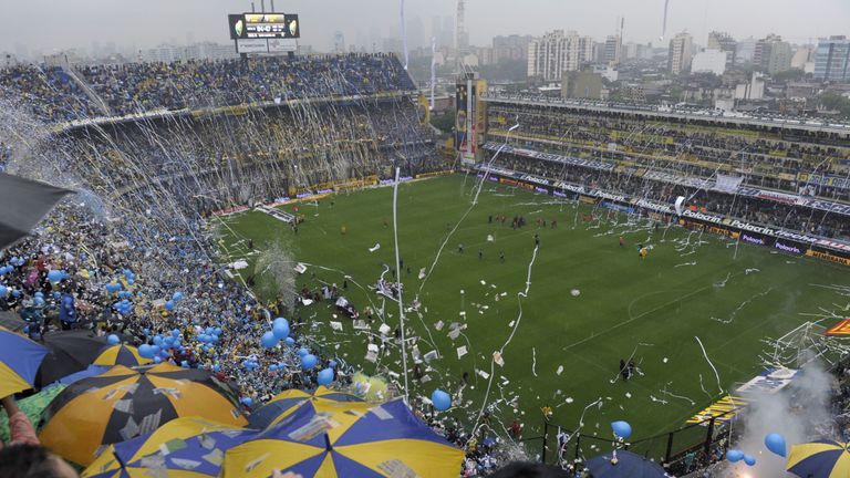 Choreo Boca Juniors vs. River Plate