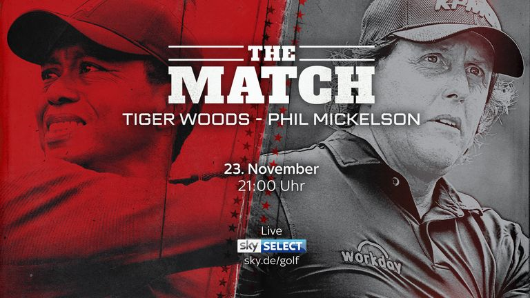 Tiger Woods und Phil Mickelson messen sich in einem Man-to-Man-Match in Las Vegas.