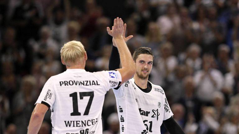 Hendrik Pekeler erzielte im Spiel gegen Azoty Pulawy sieben Tore. Sein Teamkollege Patrick Wiencek warf von der Kreisposition zwei.
