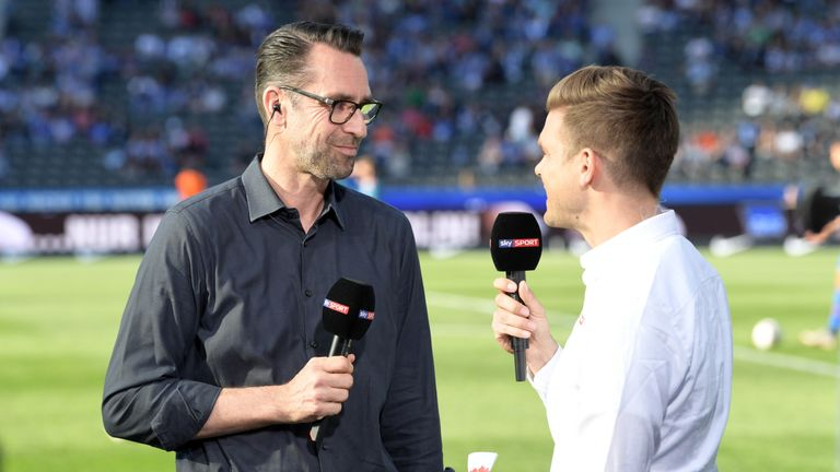 Michael Preetz spricht bei Sky über die Trainersuche bei der Hertha.
