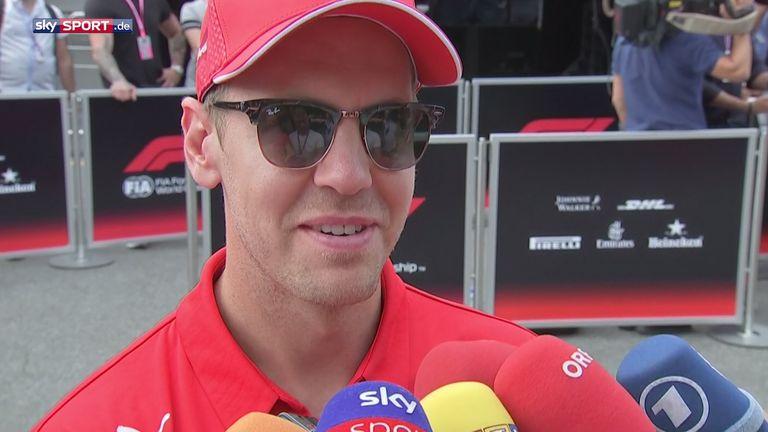 Ferrari-Pilot Sebastian Vettel freut sich auf das Heim-Rennen in Monza.