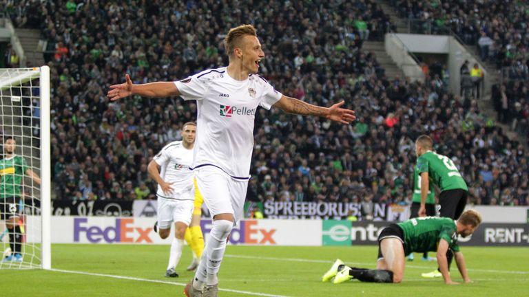 Der Wolfsberger AC schießt zum Auftakt der Europa League Gladbach ab.