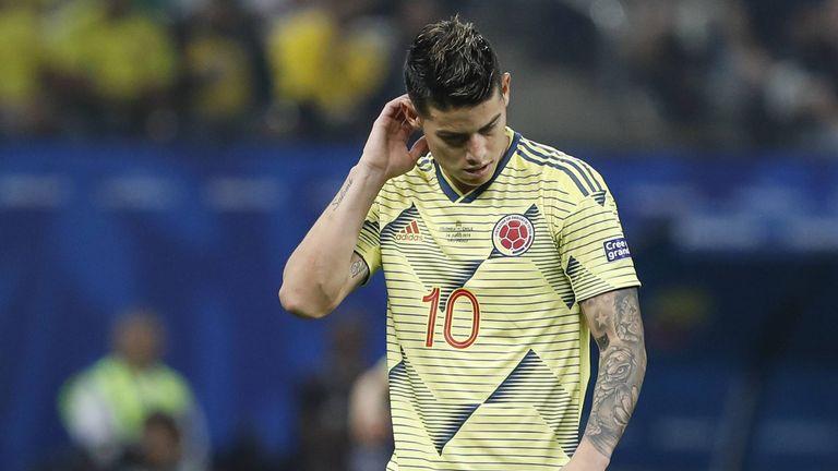 James Rodriguez hat sich im Training bei der kolumbianischen Nationalmannschaft verletzt.
