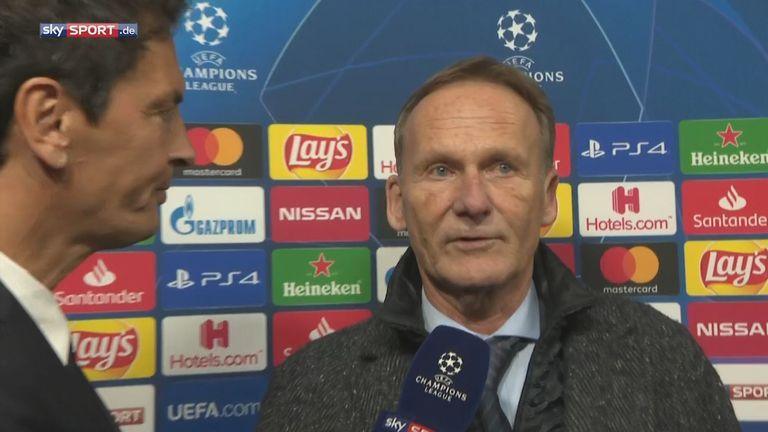 Hans-Joachim Watzke im Interview bei Sky nach dem 3:2-Sieg von Borussia Dortmund gegen Inter Mailand.
