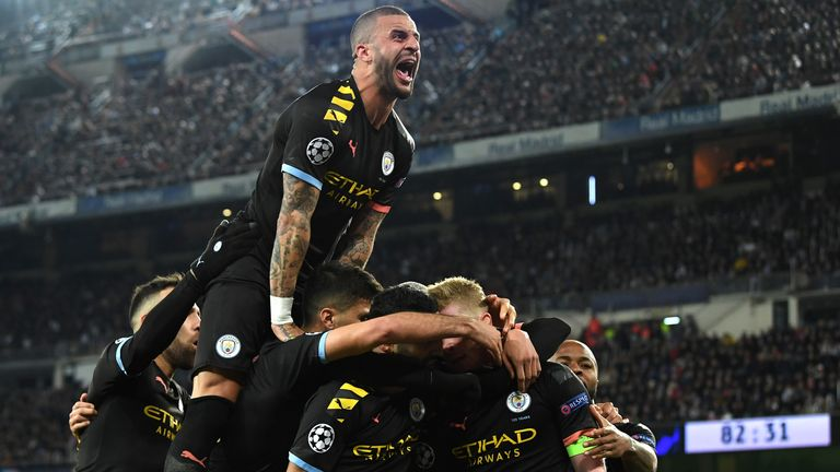 Manchester City siegt bei Real Madrid.
