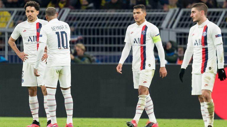 Paris St. Germain enttäuscht bei der 1:2-Niederlage bei Borussia Dortmund.