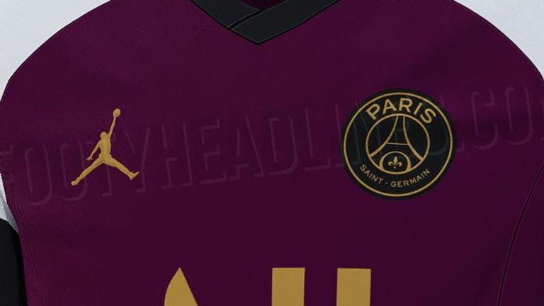So soll das erste von zwei Jordan-Trikots von Paris St-Germain aussehen. (Quelle Bild: footyheadlines.com)