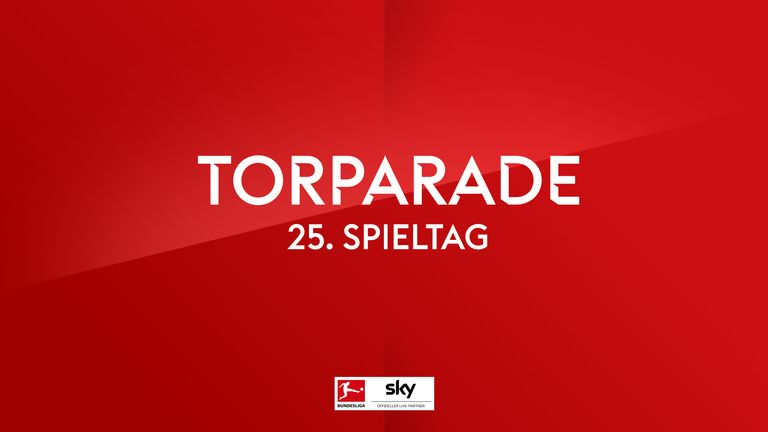 Torparade in der Bundesliga.