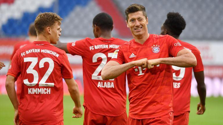 Robert Lewandowski könnte mit dem FC Bayern den Torrekord in der Bundesliga einstellen.