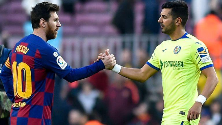 Der FC Getafe wird gegen den FC Barcelona unter dem Namen 'FE' auflaufen - das Kürzel steht für Glaube.