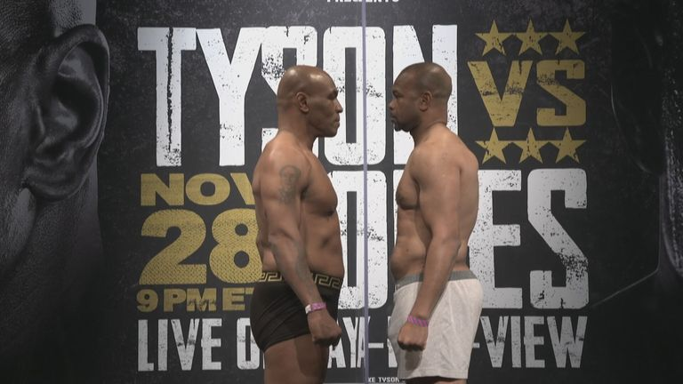 Mike Tyson und Roy Jones Jr. treffen in Los Angeles aufeinander.