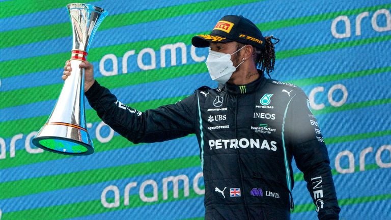 Lewis Hamilton von Mercedes.