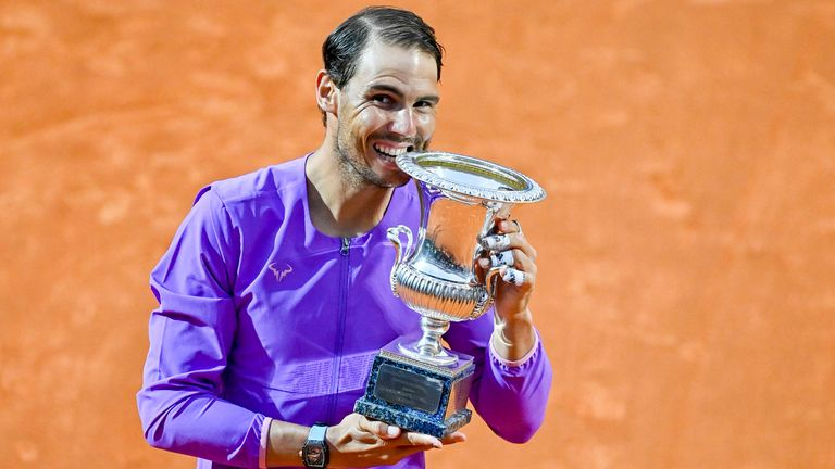 Rafael Nadal gewinnt zum 10. Mal in Rom.