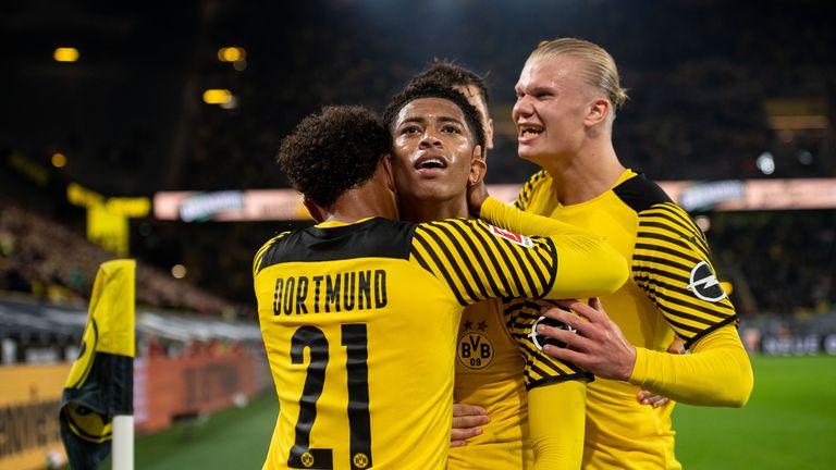 Erling Haaland erzielt in der 90.+1 Minuten den Siegtreffer für Borussia Dortmund